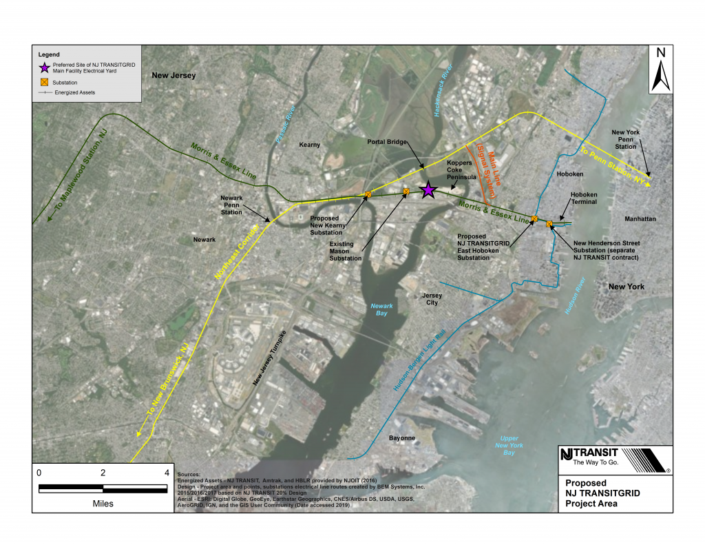 NJ TRANSITGRID Project Area